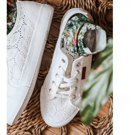 Women's Lace Sneakers Big Star W274925 White 4