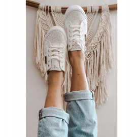 Women's Lace Sneakers Big Star W274925 White 1