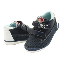 American Club Sport Shoes With Velcro GC12 Navy Blue white 4
