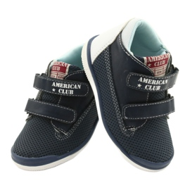 American Club Sport Shoes With Velcro GC12 Navy Blue white 5