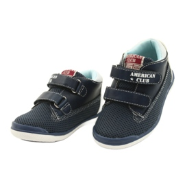 American Club Sport Shoes With Velcro GC12 Navy Blue white 3