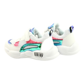 American Club Fashionable Halogen Sport Shoes ES23 / 21 white pink green 5