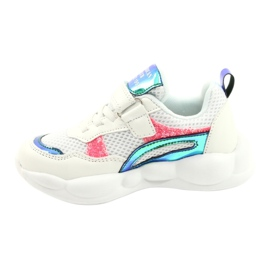 American Club Fashionable Halogen Sport Shoes ES23 / 21 white pink green 1