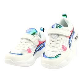 American Club Fashionable Halogen Sport Shoes ES23 / 21 white pink green 2