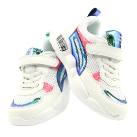 American Club Fashionable Halogen Sport Shoes ES23 / 21 white pink green 4