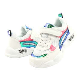 American Club Fashionable Halogen Sport Shoes ES23 / 21 white pink green 3