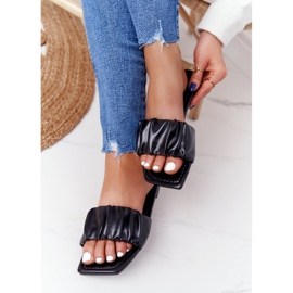 PS1 Women's Classic Black Slippers Looking Good 5