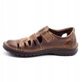 Joker Men's openwork shoes 501 brown 1