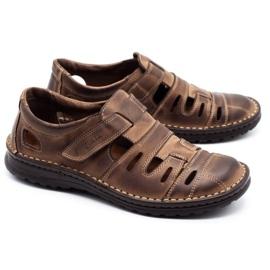 Joker Men's openwork shoes 501 brown 2