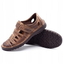 Joker Men's openwork shoes 501 brown 3