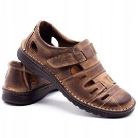 Joker Men's openwork shoes 501 brown 4