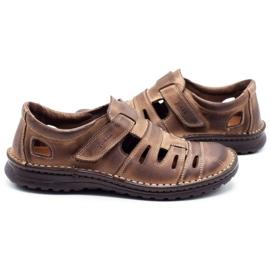 Joker Men's openwork shoes 501 brown 5