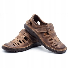 Joker Men's openwork shoes 501 brown 6