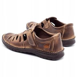Joker Men's openwork shoes 501 brown 7