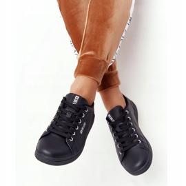 Women's Leather Sneakers Big Star DD274586 Black-Silver 5