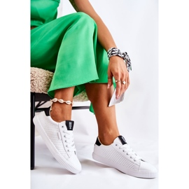 Women's Leather Sneakers Big Star HH274071 White and Black 2
