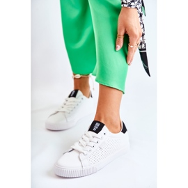 Women's Leather Sneakers Big Star HH274071 White and Black 1