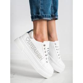 SHELOVET White Sneakers On The Fashion Platform 3