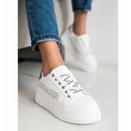 SHELOVET White Sneakers On The Fashion Platform 2