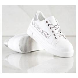 SHELOVET White Sneakers On The Fashion Platform 1