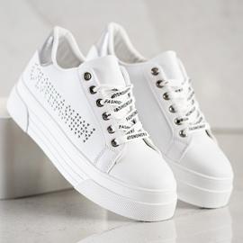 SHELOVET White Sneakers On The Fashion Platform 4