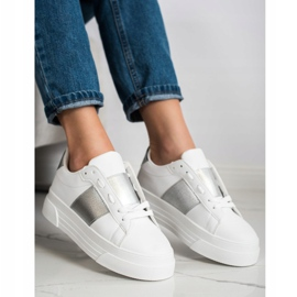 SHELOVET Sneakers With Eco Leather On The Platform white 1