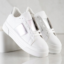 SHELOVET Sneakers With Eco Leather On The Platform white 2