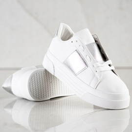 SHELOVET Sneakers With Eco Leather On The Platform white 3