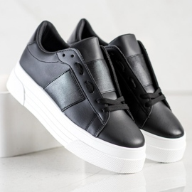 SHELOVET Sneakers With Eco Leather On The Platform black 3