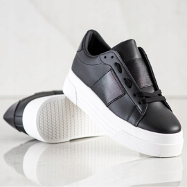 SHELOVET Sneakers With Eco Leather On The Platform black 4