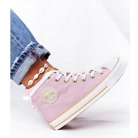 Women's High-top Sneakers Big Star HH274447 Pink 2