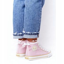 Women's High-top Sneakers Big Star HH274447 Pink 1