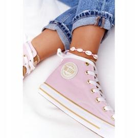 Women's High-top Sneakers Big Star HH274447 Pink 4
