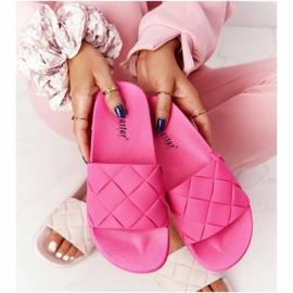 PS1 Women's Rubber Slippers Fuchsia Let's Swim pink 2
