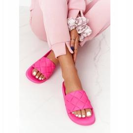 PS1 Women's Rubber Slippers Fuchsia Let's Swim pink 3