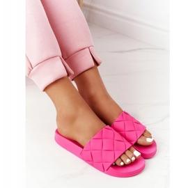 PS1 Women's Rubber Slippers Fuchsia Let's Swim pink 4