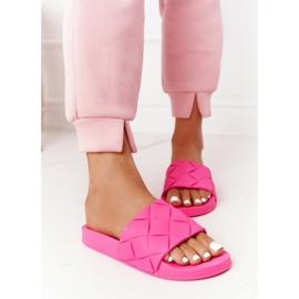 PS1 Women's Rubber Slippers Fuchsia Let's Swim pink 5