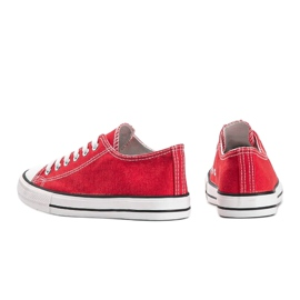 Destini classic red low sneakers 1