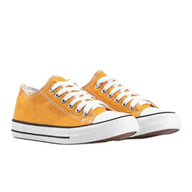 Destini yellow low classic sneakers 1