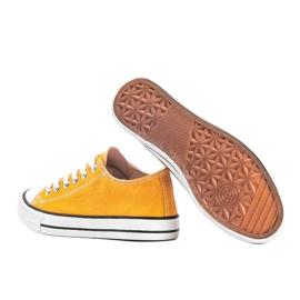 Destini yellow low classic sneakers 2