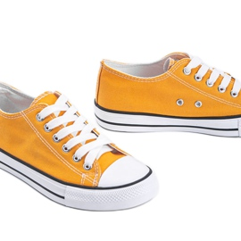 Destini yellow low classic sneakers 3