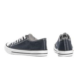 Classic navy blue low sneakers Destini 1