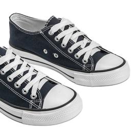 Classic navy blue low sneakers Destini 2
