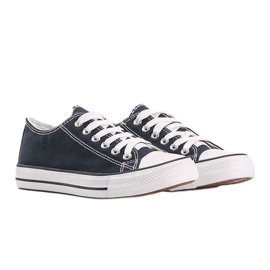Classic navy blue low sneakers Destini 3