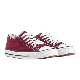 Classic burgundy low sneakers Destini red 1