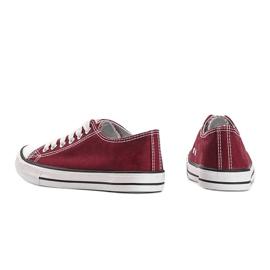 Classic burgundy low sneakers Destini red 2