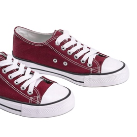 Classic burgundy low sneakers Destini red 3