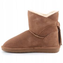 BearPaw Mia Jr 2062Y-220 Hickory Ii shoes white brown 4