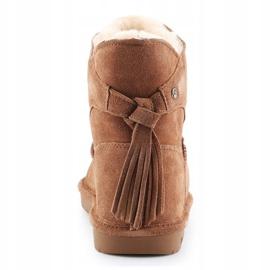 BearPaw Mia Jr 2062Y-220 Hickory Ii shoes white brown 5