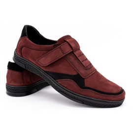 Polbut Men's casual leather shoes 2102 claret red 4